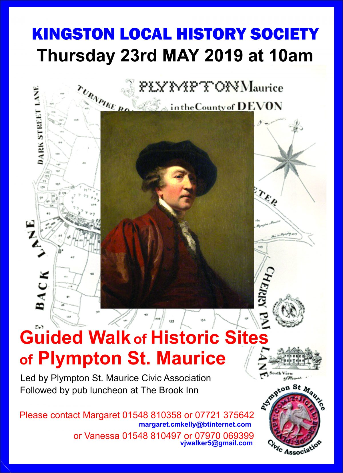 Guided Walk of Historic Sites of Plympton St. Maurice  May 23rd 2019